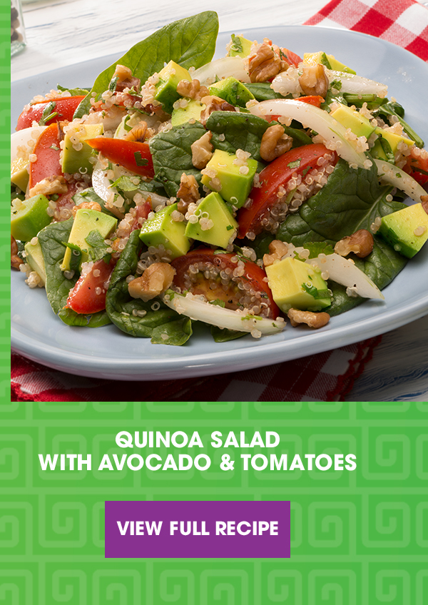 Quinoa Salad with Avocado & Tomatoes