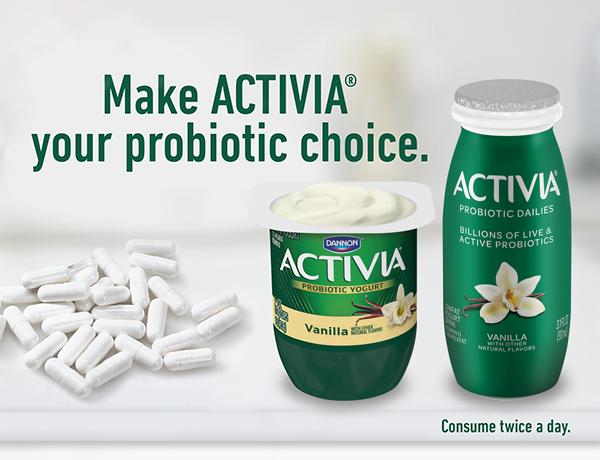 Make AVTIVIA® your probiotic choice.
