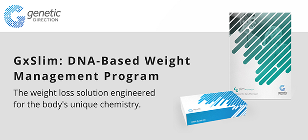 Genetic Direction - GxSlim: DNA-Based Weight Management Program - The weight loss solution engineered for the body's unique chemistry.