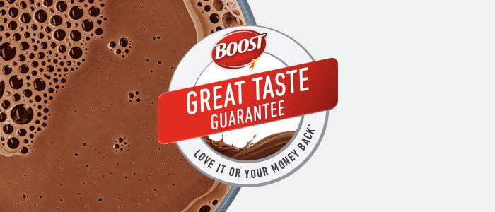 BOOST® Great Taste Guarantee