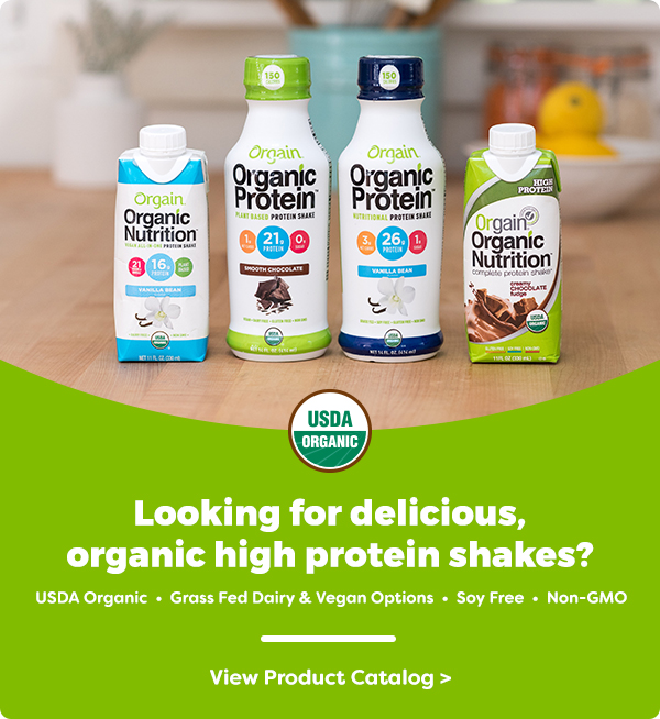 Looking for delicious, organic high protein shakes? USDA Organic | Grass Fed Dairy & Vegan Options | Soy Free | Non-GMO