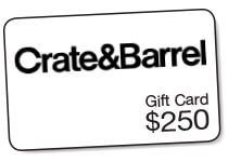 Crate&Barrel $250 gift card