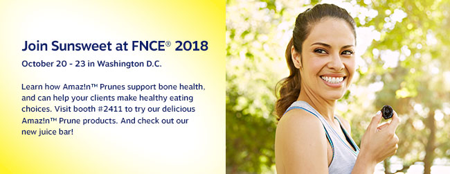 Join Sunsweet at FNCE® 2018