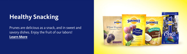 Healthy Snacking - Prunes are delicious as a snack, and in sweet and savory dishes. Enjoy the fruit of our labors! Learn More: http://sunsweet.com/products/amazin-prunes/