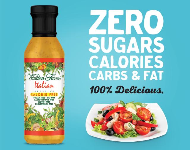 Zero sugars, calories, carbs, and fat. 100% delicious.