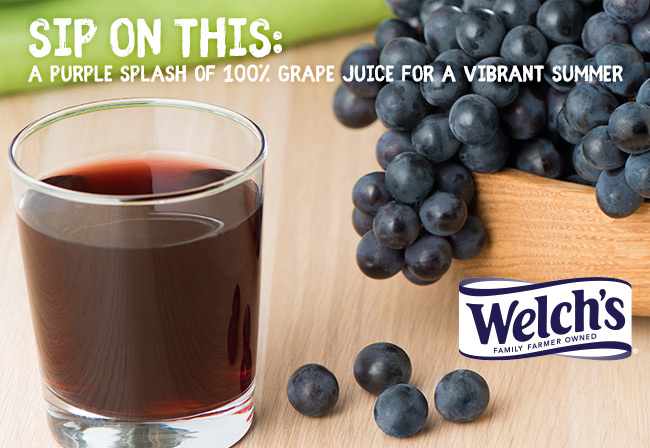 Welch's | Sip on This: A Purple Splash of 100% Grape Juice for a Vibrant Summer